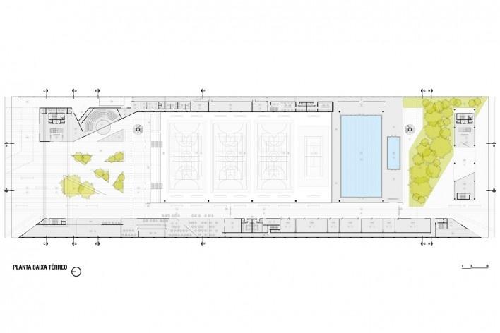 Campus Igara UFCSPA, planta térreo. OSPA Arquitetura e Urbanismo<br />Imagem divulgação