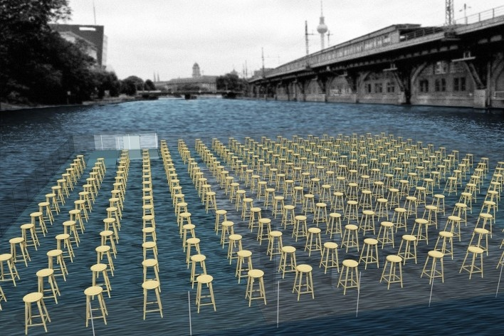 Spree river theatre, possibilities of usages simulation. Carlos M. Teixeira