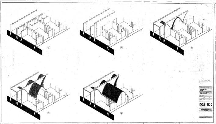 Residência dos Padres Claretianos, desenhos do projeto executivo, Batatais SP Brasil, 1984. Arquitetos Affonso Risi e José Mario Nogueira<br />Imagem divulgação  [Acervo FAU USP]