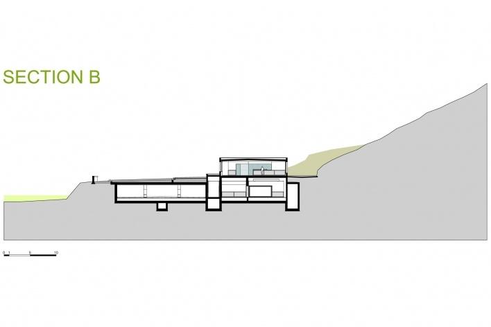 Sede da Fundação Iberê Camargo, corte B. Arquiteto Álvaro Siza, 2008<br />Desenho escritório