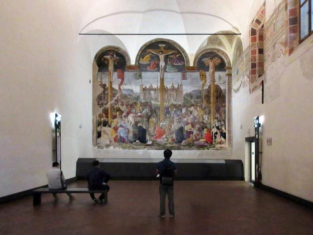 Crucificação, de Donato Montorfano, 1494, parede sul do refeitório da Igreja S. Maria delle Grazie, Milão<br />Foto Victor Hugo Mori