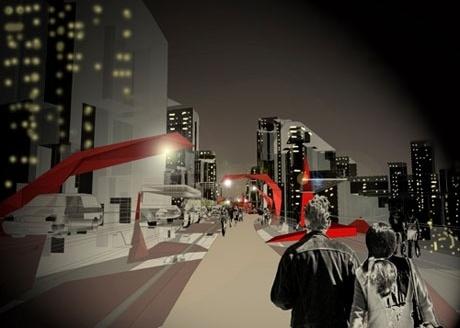 Perspectiva Noturna Parque Elevado<br />Imagem do autor do projeto