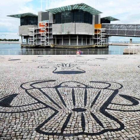 Oceanário e detalhe do piso, Lisboa, arquiteto Peter Chermayeff<br />Foto Anita Di Marco