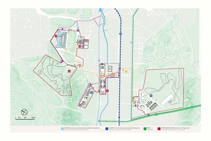 Mapa do X Parque<br />Rio 2016/ BCMF Arquitetos