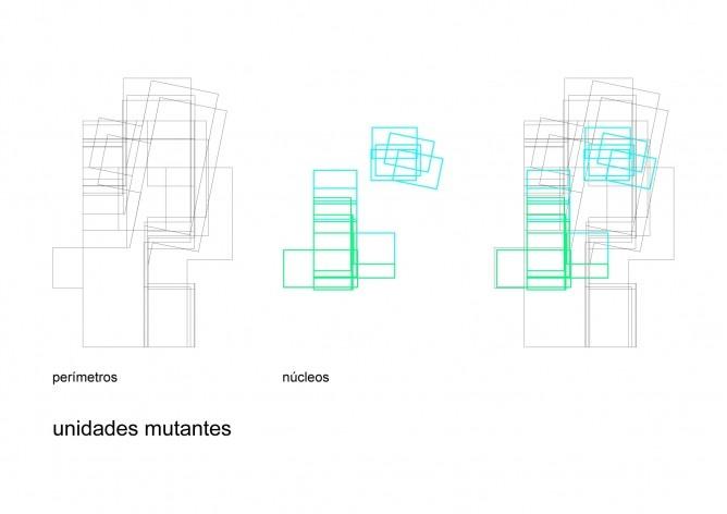 Unidades mutantes. Concurso Habitação para Todos. CDHU. Casas escalonadas - 2º Lugar.<br />Autores do projeto  [equipe premiada]