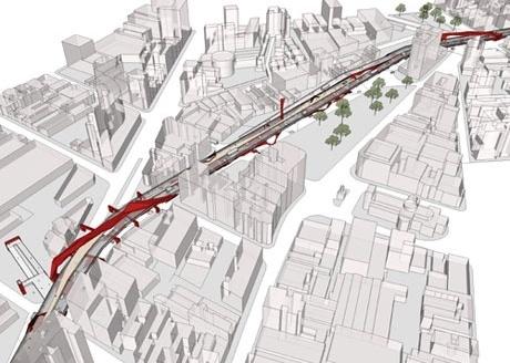 Perspectiva Aérea do Complexo<br />Imagem do autor do projeto