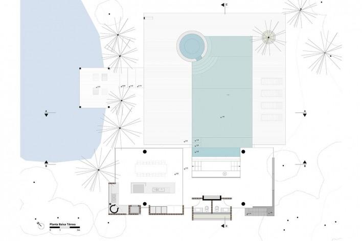 Kiosk EL165, floor plan, Gravataí RS Brasil, 2016. Architects Diego Brasil and Anderson Calvi / Br3 Arquitetos<br />Imagem divulgação / disclosure image  [Br3 Arquitetos]