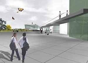 Centro Cultural e Centro Administrativo – vista externa<br />Imagem dos autores do projeto