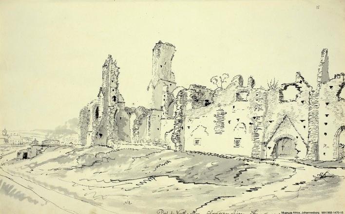 País de Gales, trecho da abadia de Neath, Glamorganshire, 23 ago 1804<br />William John Burchell  [Collection Museum Africa, Johannesburg]