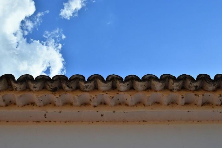 Capela de Nossa Senhora do Rosário, beiral tipo beira-seveira, Arraial da Barra, Goiás Velho GO, 2014<br />Foto Elio Moroni Filho
