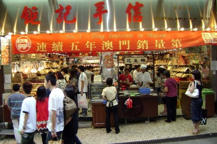 Lojas de alimentação do Centro Histórico<br />Foto Luiz Henrique Proença Soares