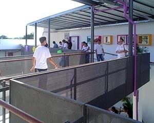 Circulação - passarelas<br />Imagem dos autores do projeto
