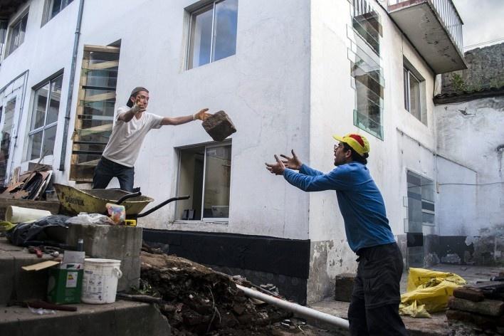 Casa en Construcción, construcción, Quito, Ecuador, 2014. Al Borde<br />Foto Antonio Flores