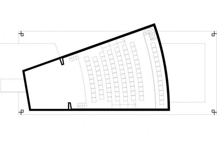 Figura 3: Teatro – planta baixa do mezaninos