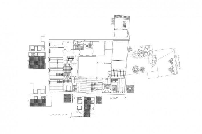 Planta tercera<br />Deseño Estudio Miralles-Tagliabue