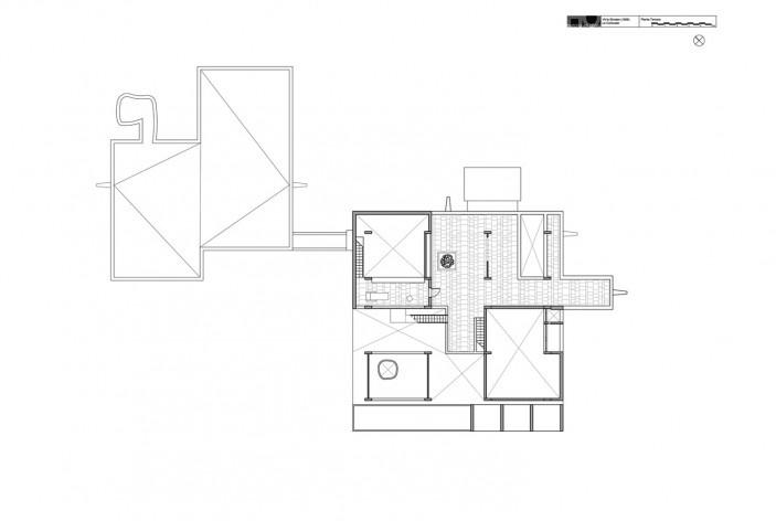 Casa Shodhan planta terceiro pavimento, Ahmedabad, Gujarat, Índia, 1951-56. Arquiteto Le Corbusier<br />Reprodução/reproducción  [website historiaenobres.net]