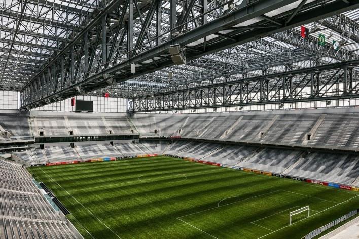 Complexo Esportivo e Cultural Clube Atlético Paranaense, Curitiba. Arquiteto Carlos Arcos<br />Foto Nelson Kon