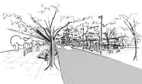 Vista do Passeio Público<br />Imagem dos autores do projeto