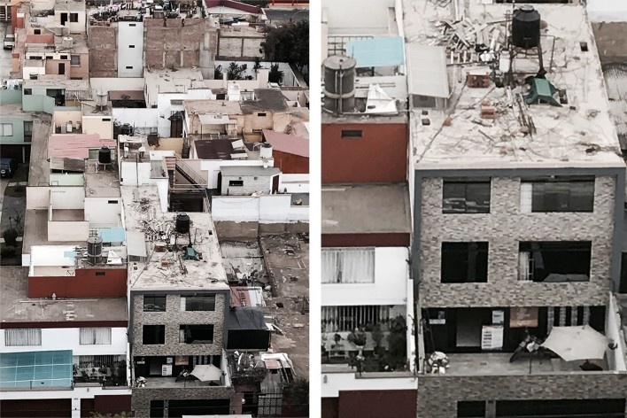 Casario em Miraflores  (à direita, detalhe)<br />Foto José Lira