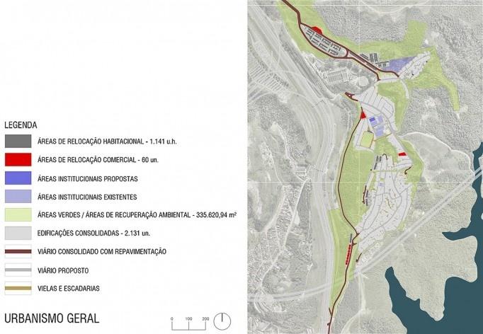 Diagrama de projeto. Urbanismo geral. Projeto de Urbanização Integrada<br />Fonte Boldarini Arquitetos Associados