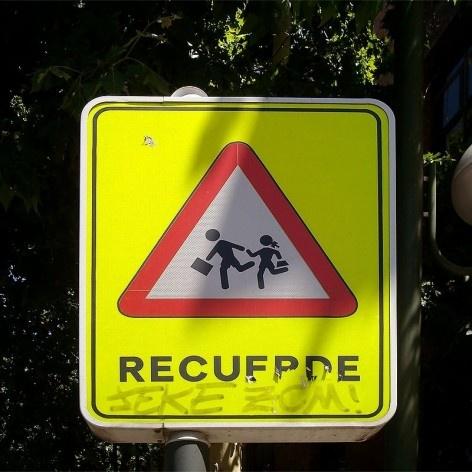 Placa em Madri, Espanha<br />Foto Michel Gorski