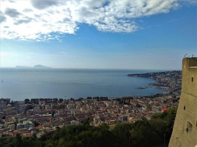 Vista a partir do Castel Sant'Elmo para o Golfo de Nápoles, Itália<br />Foto Carina Mendes dos Santos Melo, 2018