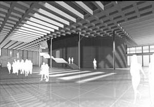 Vista do Hall da Câmara de Vereadores<br />Imagem dos autores do projeto
