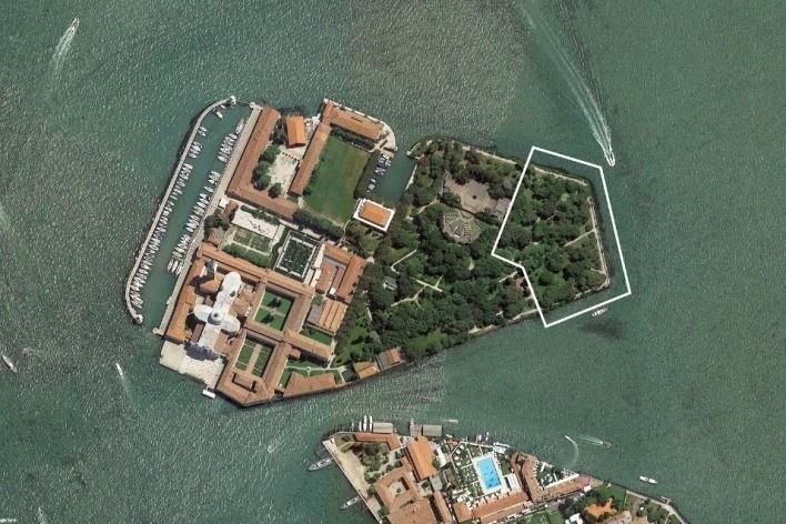 Capelas do Vaticano, localização na ilha de San Giorgio Maggiore Veneza, 2018 [Escritório/Office Carla Juaçaba]