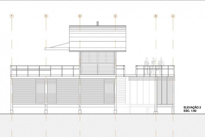 Casa do Felix, elevação 2, Praia do Felix, Ubatuba SP, arquiteto Silvio Sant'Anna<br />Imagem divulgação