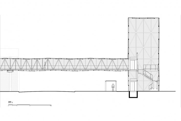 Corte longitudinal torre 1<br />Metro Arquitetos Associados
