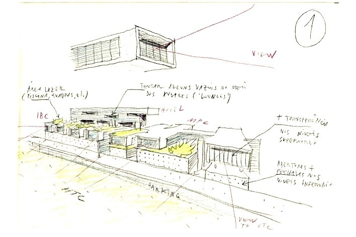 Cluster Barra - Croquis IBC / MPC (International Broadcast Center / Center of the Press)<br />Rio 2016/ BCMF Arquitetos