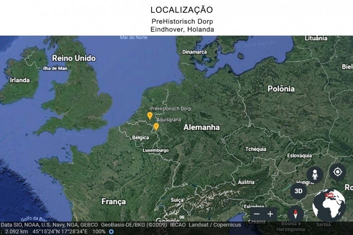 Mapa de localização do museu na cidade de Eindhover, em relação à Europa e à cidade de Aachen (Aquisgrano)<br />Foto Ana Carolina Brugnera / Lucas Bernalli Fernandes Rocha