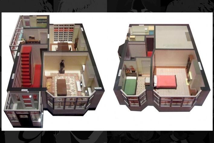 Maquete da residência de Lennon que pertenceu a sua Tia Mimi<br />Foto Victor Hugo Mori