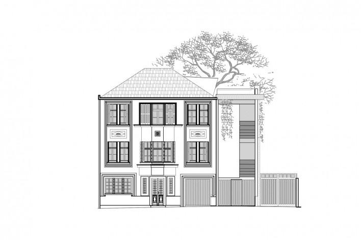 Casa Lutzenberger, fachada nordeste. Reforma Kiefer arquitetos