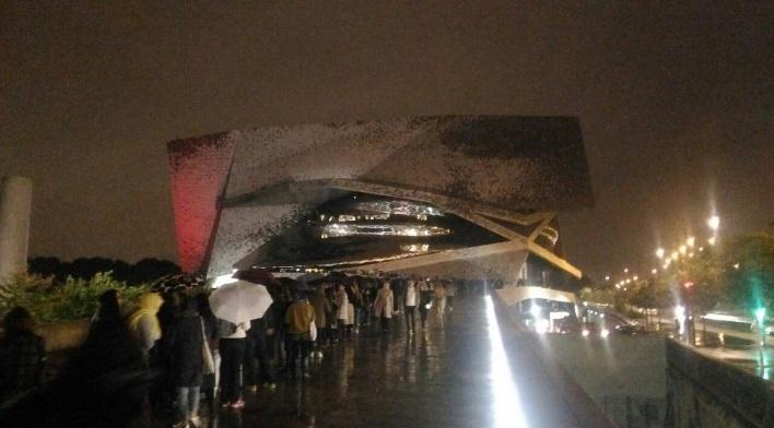 Filarmônica de Paris, acesso principal, percurso Norte<br />Foto Evandro Marques Luís