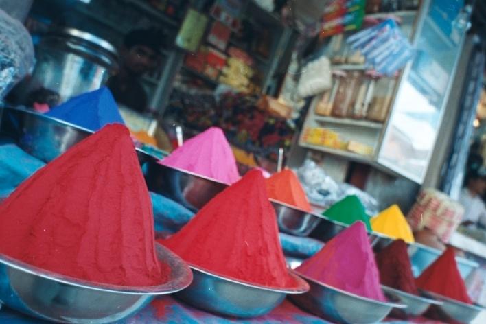 Cores à venda, Mysore, Índia<br />Foto Fabricio Fernandes