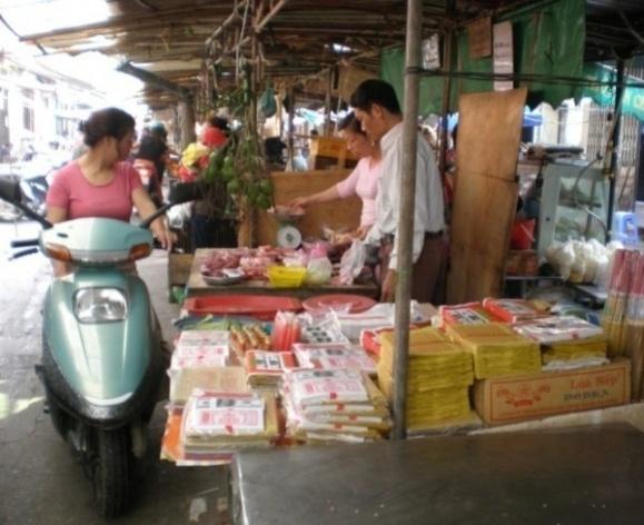 Hanói, drive thru <br />Foto Lucia Maria Borges de Oliveira