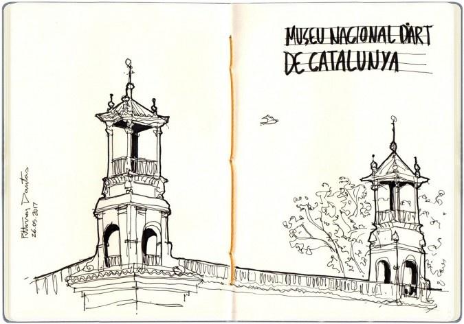 Museu Nacional de Catalunya, Barcelona, Espanha<br />Desenho de Petterson Dantas