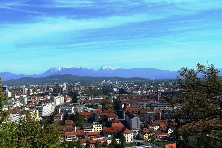 Vista panorâmica de Ljubljana, capital da Eslovênia<br />Foto Eliane Lordello
