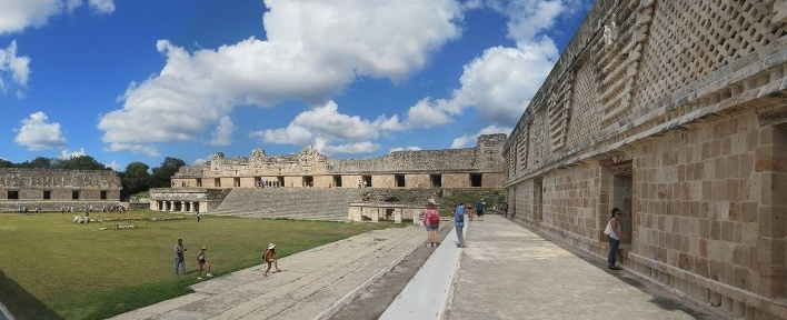 Uxmal, Praça do Convento, México<br />Foto Victor Hugo Mori