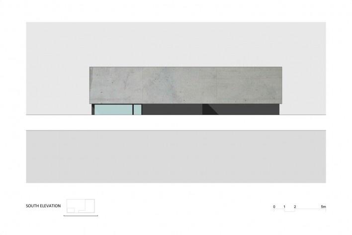 Elevação Sul Casa no Juso. Projeto ARX Portugal + Stefano Riva, 2011<br />divulgação