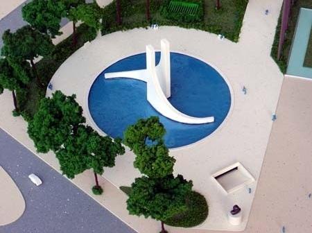 Memorial Getúlio Vargas. Maquete do monumento<br />Foto de Kadu Niemeyer