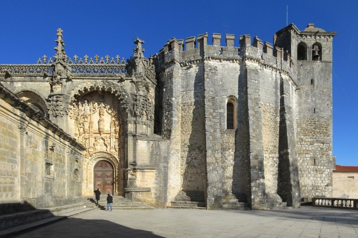 Charola Templária no Convento de Cristo em Tomar, Portugal<br />Fotomontagem Victor Hugo Mori, 2016