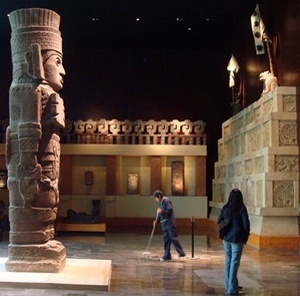 Conservação do Museu nacional de Antropologia<br />Foto Michel Gorski