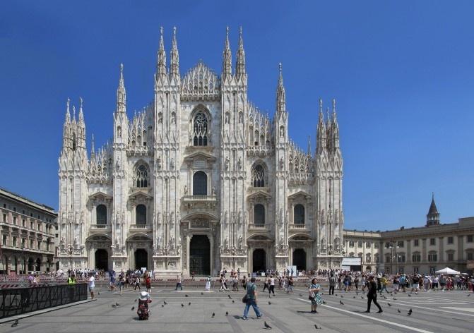 Duomo, Milão<br />Foto Victor Hugo Mori