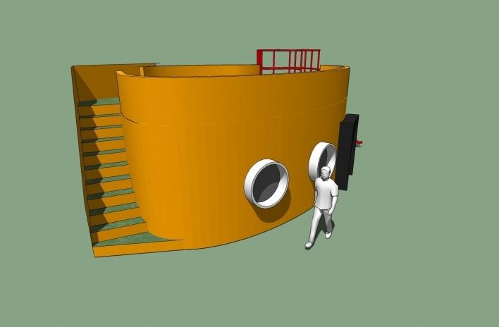 Modelo 3D - Midiateca 2<br />Imagem dos autores do projeto