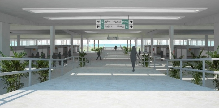 Alameda coberta permite a travessia da feirinha a qualquer hora do dia ou da noite