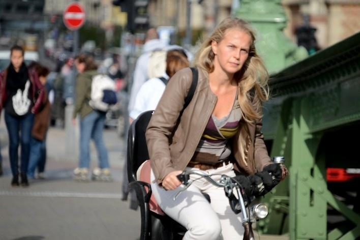 Ciclista na ponte Szabadsag<br />Foto Fabio Jose Martins de Lima