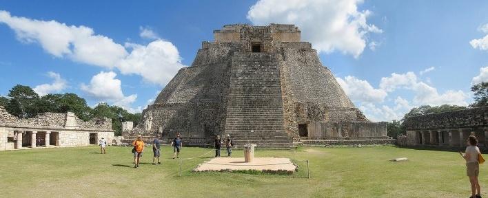 Uxmal, Pirâmide do Mágico, México<br />Foto Victor Hugo Mori