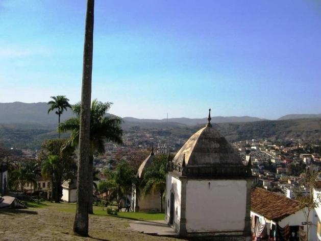 Vista geral de Congonhas do Campo, a partir do Santuário do Bom Jesus